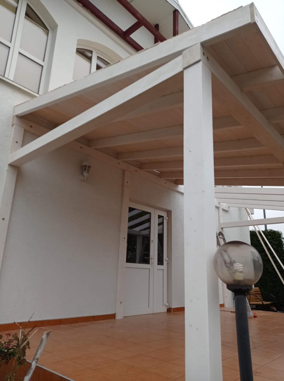 pietrak zadaszenia domy szkieletowe schody białe drewno 2